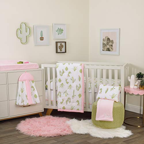 Great Features Of NoJo Dreamer Cactus 8 Piece Nursery Crib Bedding Set, Pink/Green/White,