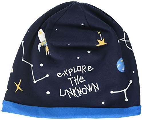 maximo Jungen aus Jersey mit Weltraum und Glow in The Dark Motiven Mütze, Blau (Navy/Active Blue 4878), (Herstellergröße: 53/55)