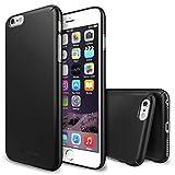 Ringke iPhone 6 Plus Funda Slim Funda [Protección Todo Alrededor][SF Black Negro] Funda Hard Top y Bottom Cobertura Completa Prima Dual Coated para Apple iPhone 6 Plus - Eco Paquete