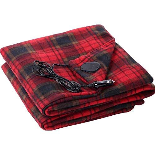 FEANG Heizdecke Warme Samtmaterial Elektrische Decke 12V Auto Heizdecke Energiesparende Warme Elektrische Decke Wärmeunterbett (Color : Red)