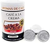 Aromas de Café - Café a la Crema Molido - Café Molido Cremoso - Café Natural - Intensidad Suave - Agradable Sabor - Contiene Antioxidantes - 100 gr