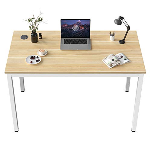EUREKA ERGONOMIC Computer Desk 80 * 50 CM Small Desk Sturdy Office Desk Wooden Home Office Desk Simple Work Table Study Workstation PC Table White