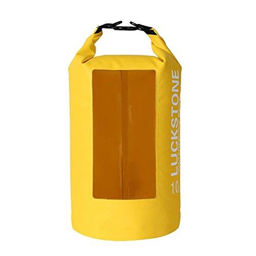 MagiDeal Sac Sec 10 L Imperméable avec Bandoulière pour Kayak Plage Pêche Rafting Canoe - Jaune, 10L