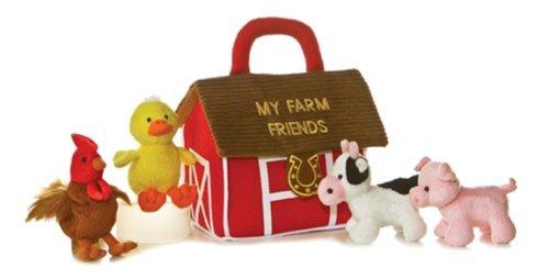 Aurora World Baby Talk My Farm Friends Carrier 8 Plush by AURORA
