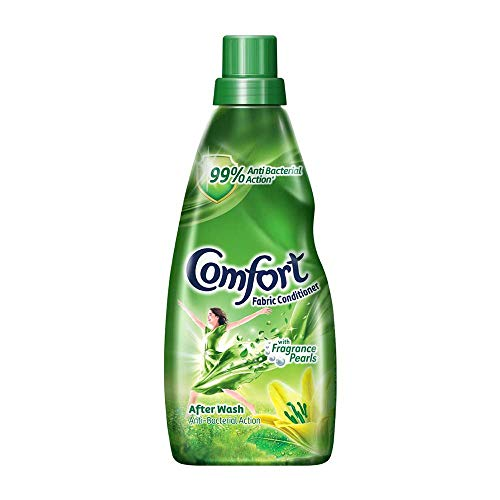 Comfort After Wash Anti Bacterial Fabric Conditioner (Fabric Softener) - For Softness, Shine And Long Lasting Freshness, 860 ml