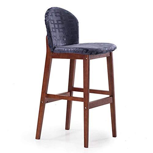 YANYUBINdengzi Sgabello pratico sgabello da pranzo sedia da bar in legno massello, moderno e semplice sgabello alto da bar, sgabello da bar per la casa