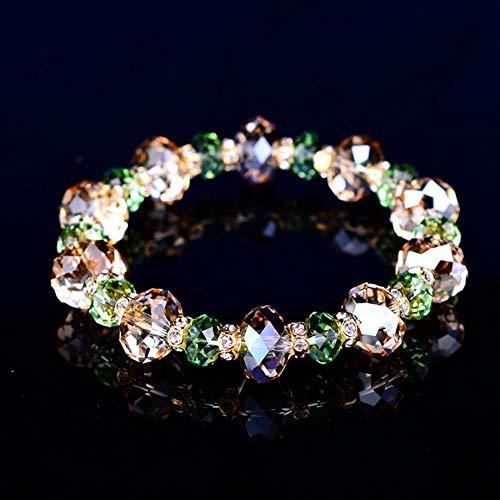 Armband voor dames, gemaakt van Oostenrijks kristal, champagne wilg reis verjaardag cadeau voor haar, dame, meisje, vrouw, dochter, eenvoudige persoonlijkheid sieraden