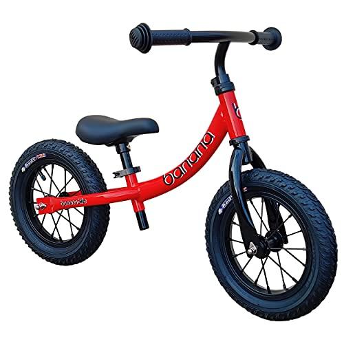 Banana GT Balance Bike - 12' Alloy Wheels Air Tires for Girls and Boys...