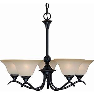 Hardware House 127547 Chandelier, 5 Light Dover Series/Classic Bronze