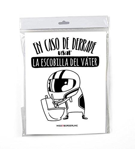 Vinilo de Baño - En caso de derrape usar la escobilla del váter