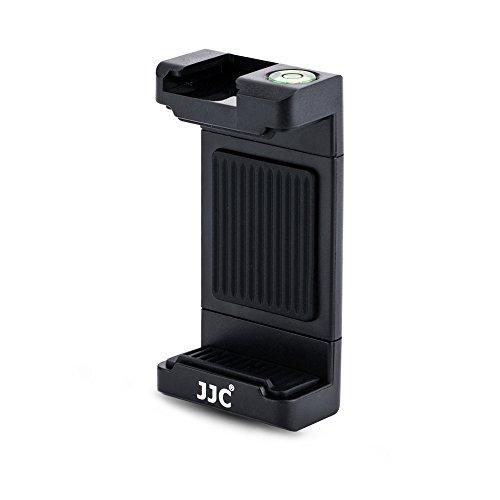 """JJC Universale Treppiede Supporto con 56–105mm Morsetto Regolabile, Cold Shoe Mount & Livella per iPhone, Samsung, Huawei, MI Telefoni Intelligenti su 1/4""""–20 Treppiede, Monopiede, Selfie Stick"""