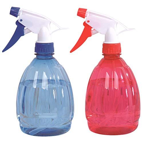 Sprühflaschen - WENTS Modi für Reinigungmit Verstellbare, Set Blümensprüher, Sprühkopf, Sprüher Pflanze Blumen Garten (Blau + Rot,500 ml)