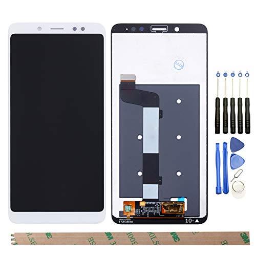 YHX-OU Para Xiaomi Redmi Note 5 de 5,99 pulgadas (versión global), reparación y sustitución de pantalla LCD + digitalizador de pantalla táctil con herramientas gratuitas, color blanco
