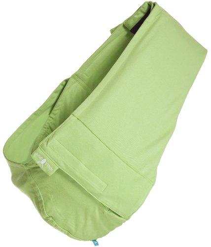 Wallaboo Tragetuch Connection, 100% Baumwolle, Passt sich der Form Ihres Baby genau an, Ergonomische Babytragetuch, Frabe: Grün - 2