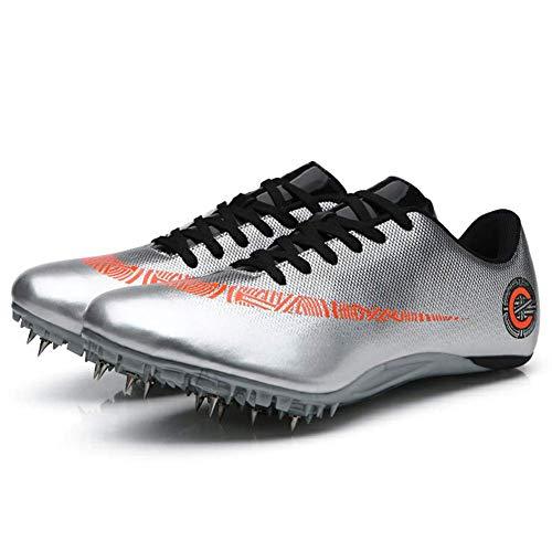 ZRSH Zapatillas de Atletismo Unisex, 8 Clavos de competición de Atletismo al Aire Libre Zapatillas de Clavos Deportivas Profesionales Zapatos con Clavos,002,42EU