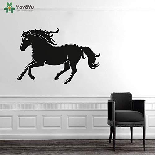 Muursticker paardrijden huisdier ridder muursticker lopend paard dierentuin foto poster vinyl kunst sticker kleurrijke 57x85cm
