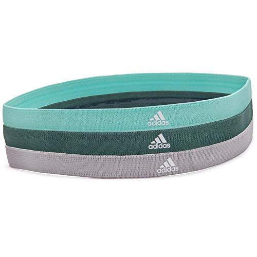 adidas Damen 3 pack Haarbänder Grey/Green/Mint, One Size