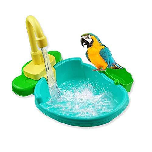 15pcs Vogel Automatische Badewanne Schwimmbad Spielzeug Bad Dusche Wasserspender für Papagei Wellensittich Sittich Nymphensittich Conure Lovebird Finch Kanarienvogel Grauer Kakadu Amazonas Ara Käfig