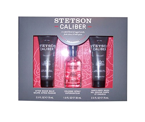 3 Piece Gift Pack Stetson Caliber, Cologne, Aftershave, Body Wash