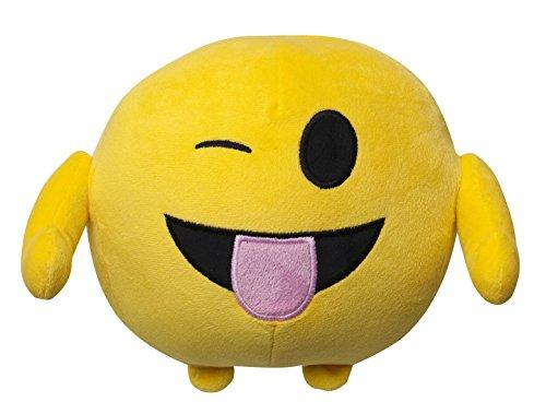 Imoji - 33854 - Poupée en Forme de Balle - 18 cm - Drôle Langue - Jaune