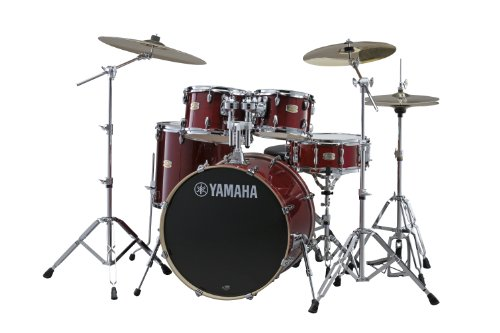 "Yamaha Stage Custom Birch 5pc Drum Shell Pack - 20"" Kick, Cranberry Red"