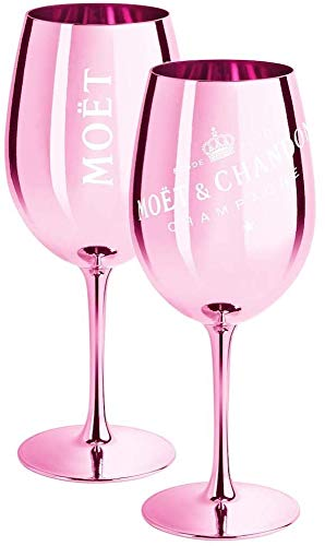 Moët & Chandon Limited Edition Ibiza Imperial Pure Glass Champagnergläser Pink