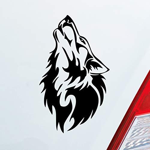 Auto Aufkleber in deiner Wunschfarbe Wolf Wölfe Hund Heulen Wulf Tier Animal Motorrad Dub 15x9 cm Autoaufkleber Sticker