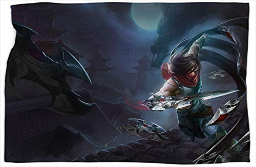 Talon Dragonblade League Legends Patterned Printed blanket Scarf Super Soft, Warm and Comfortable Blankets and Throws 50 x 60 inch