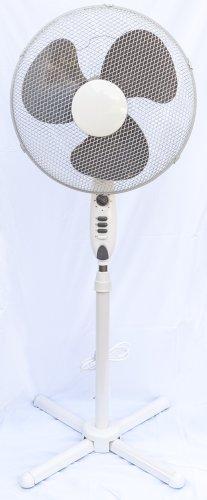 Ventilator Standventilator Weiß, Durchmesser 40cm, Höhe max. 140cm