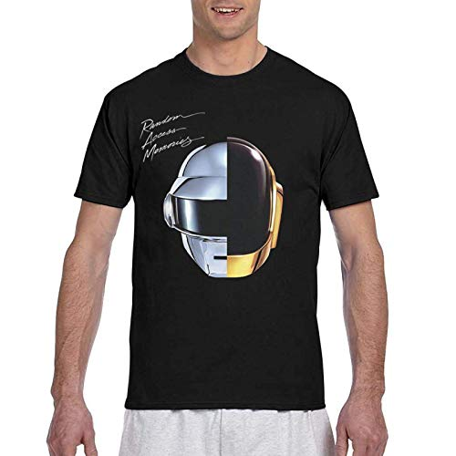 Daft Punk Random Access Memories T Shirts Man's Summer Classic Crewneck 3D Printed Short Sleeve Tshirts