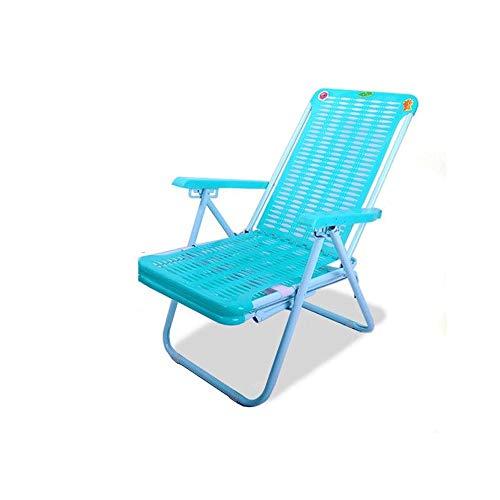 LI MING SHOP Chaise De Salon Pliante Bureau Déjeuner Lit Plage Chaise En Plastique Retour Paresseux Chaise Cool