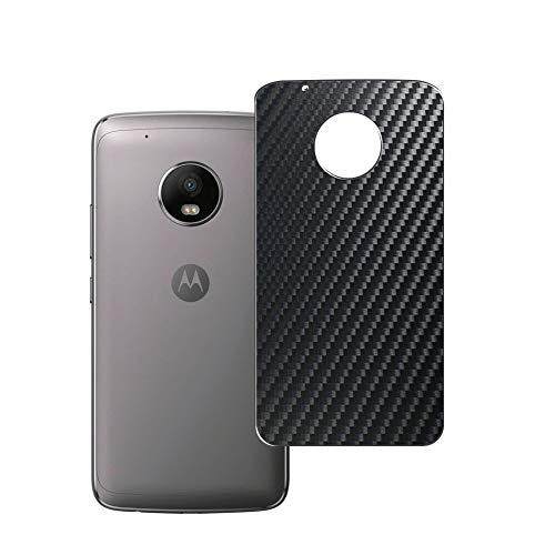 Vaxson 2 Unidades Protector de pantalla Posterior, compatible con Motorola MOTO G5 PLUS, Película Protectora Espalda Skin Cover - Fibra de Carbono Negro