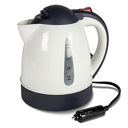 12V Anschluß Moderner Wasserkocher Tee Kessel Wasserkessel Camping Küche Outdoor Zelt Küchenzubehör 1 Liter Kettle Wasser Tee Kocher Kabel 150 cm Zigarettenanzünder Edelstahlwasserkocher Kaffee