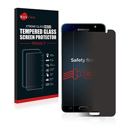 savvies Protector Cristal Templado Privacidad Compatible con Samsung Galaxy J5 2016 /...