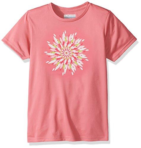 Columbia Kurzärmliges T-Shirt für Mädchen, Trailtastic Short Sleeve Shirt, Polyester, pink mit Blümchengrafik (Lollipop Daisy Graphic), Gr. M, AG0011