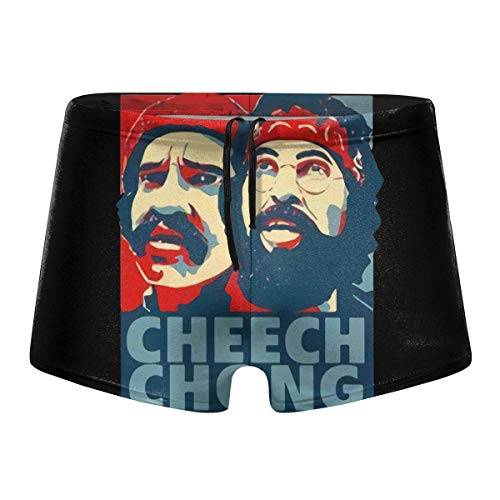 ZYWL Cheech & Chong Portrait Picture Herrenbadebekleidung Basic Boxer Swimwear