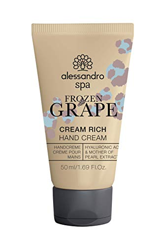alessandro Spa Cream Rich-FROZEN GRAPE LIMITED EDITION- Duft nach gefrorenen Trauben -Reichhaltige Anti-Aging Handcreme, bei trockenen und strapazierten Händen, 50 ml