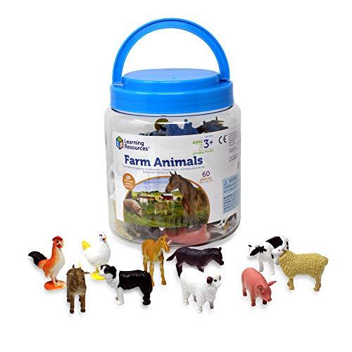 Figuras de animales de la granja de Learning