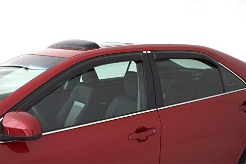 Auto Ventshade 94833 Original Ventvisor Side Window Deflector Dark Smoke, 4-Piece Set for 2004-2009 Mazda 3