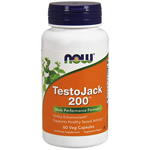 NOW Supplements, TestoJack 200 with Tongkat Ali, Tribulus, Maca and Horny Goat Weed, 60 Veg Capsules