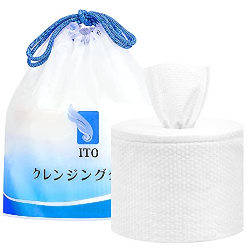 ITO Disposable Face Towel, 80 Count Biodegradable Facial Tissue, Unscented Baby Dry Wipes, Make Up Removing Wipes Ultra Soft Thickening for Sensitive Skin (1 Pack)