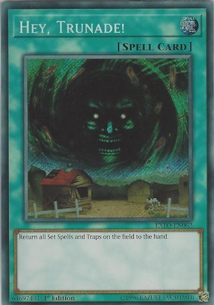 Yugioh Hey, Trunade! EXFO-EN062 Secret Rare 1st Edition Extreme Force Cards