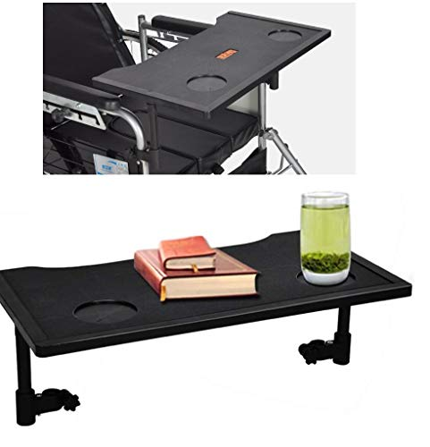 Wheelchair Tray Detachable Durable Wheelchair Accessories Walker Tray Table Accessory with Non-Slip Cup Holders for Seniors