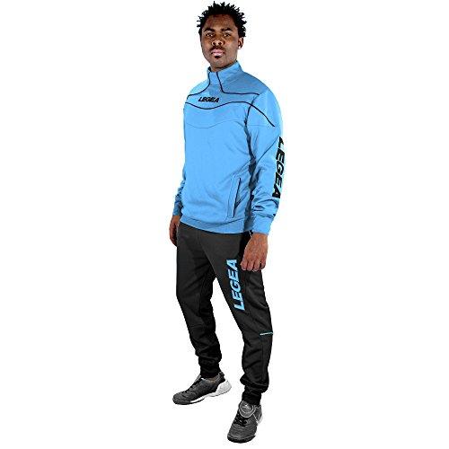 Legea Herren Trainingsanzüge Trainingsjacke Sportanzug Running Fitness Laufen Training Nigeria Blau Grau (XXS)