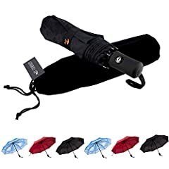 DURABLE DESIGN TO WINDPROOF UMBRELLA:This is unbreakable umbrella for men and women. This Compact umbrella have Black Metal Shaft and Fiberglass Ribs ensure high resistance to 55 mph wind gusts. It comes from An umbrella manufacturer with a history o...