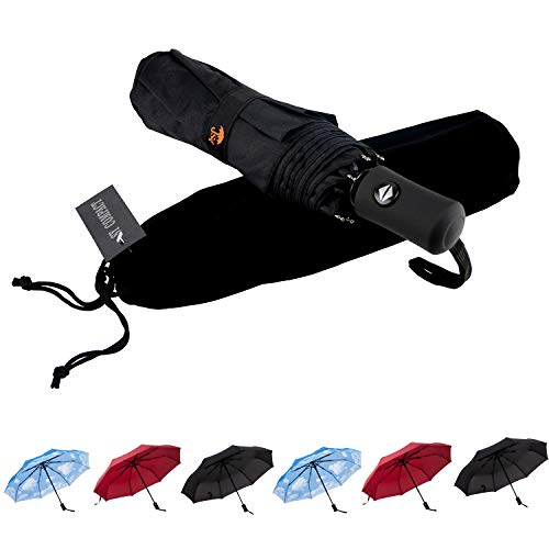 SY Compact Travel Umbrella Auto Open Close Windproof LightWeight Unbreakable Umbrellas