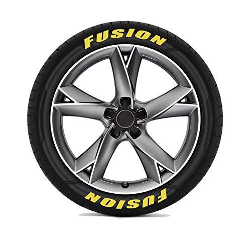 3D Auto Reifen Buchstaben Rad Aufkleber, Suibatle für Ford Fiesta Mondeo Fusion Explorer Flucht Shelby Edge...