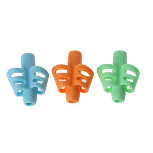 Qianqian56 3 Stks Handgreep met twee vingers Siliconen Baby Potloodhouder Leer Schrijven Gereedschap Schrijven Pen