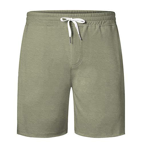 UNIFACO Kurze Hose Herren Sweatshort Jogginghose Baumwoll Fitnesshose Traininghose Casual Sweatpants Sporthose