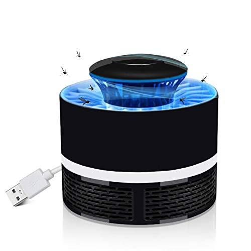 SZSMART Lampada Anti Zanzare Elettronica Antizanzare, Insetti Mosquito Killer, Trappola per Mosche Insetto, 7W Lampada Anti-Insetti USB Ricaricabile (Nero)